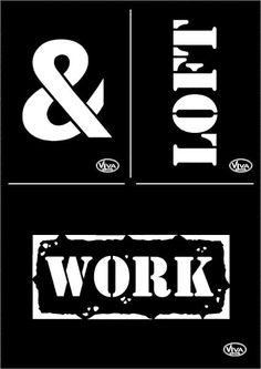 Pochoir « Loft & Work »