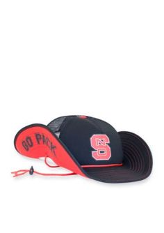 buy online bcfe7 d832a Cowbucker Men s Nc State Wolfpack Blackout Mesh Bucker Hat (Lightweight  Outdoor Wide Brim Cowboy   Bucket   Trucker Sun Cap) - Snapback - Black -  One