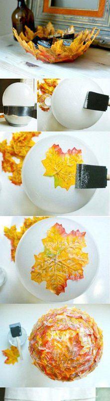 Zobacz zdjęcie miseczka DIY z liścia. zrób to sama, albo razem ze swoim bobasem =)
