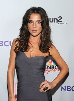 Kelly Monaco Cocktail Ring - Kelly Monaco donned a sexy gray bandage dress for the NBC All-Star party in Los Angeles. She finished off the look with tousled curls and a chic cocktail ring. Kelly Monaco, Star Party, Sexy Halloween Costumes, Celebs, Celebrities, Classy Women, Gorgeous Women, Stylish Outfits, Actresses