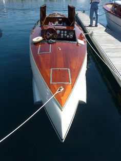 It won the Gold Cup and President's Cup in It is powered with a Wright that has Hispano Suiza components. Wooden Speed Boats, Wood Boats, Chris Craft Boats, Hispano Suiza, Classic Wooden Boats, Classic Yachts, Cabin Cruiser, Vintage Boats, Gold Cup