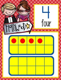 HOLLYWOOD Theme Classroom Decor / MATH / Number Line Banner to 20/ Illustrated / ARTrageous FUN