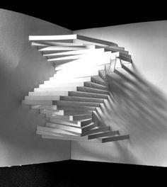 Paper Sculpture Design. Positive/Negative  Light/Shadow
