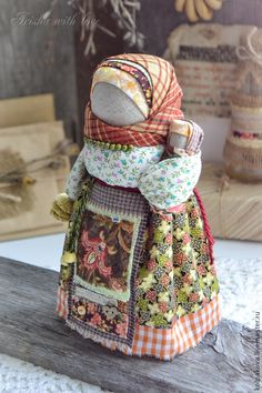 doll made by Irisha Kolpakova, shop name kolpakova @ livemaster. Eslava, Traditional Toys, Natural Toys, Doll Quilt, Doll Tutorial, Doll Costume, Kokeshi Dolls, Doll Hair, Doll Crafts