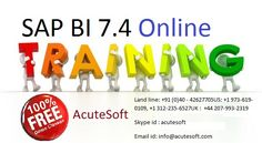 expert@123  Acutesoft provide SAP  BI/BW 7.4 Online Training.SAP business intelligence 7.4 solutions program will assist you to develop the way your decision manufacturers use data , positive users to access , structure , analyze , get around , and share information across the business . This course comprises showing , query and analysis , dashboards as well as visualization , and the BI programming platform.