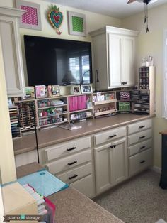 Stamp-n-Storage's August Studio Showcase winner has a cute room! She once tried to build her own craft storage units and soon discovered that buying Stamp-n-Storage products worked a lot better!