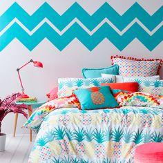 4 ideias para adicionar grafismos à sua parede de cabeceira - dcoracao.com - blog de decoração