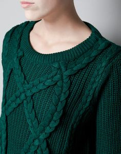 CABLE KNIT JUMPER - Knitwear - Woman - ZARA Italy