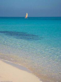 La plage de Cayo Santa-Maria, Cuba.