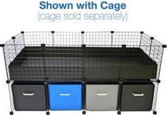 Cage Cubby Large System - Cage Cubby Systems - C Cages for Guinea Pigs