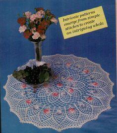 Flowerbed Doily Thread Crochet Pattern