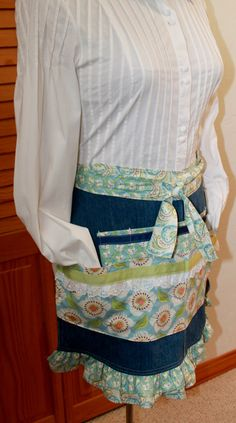 Denim Apron for Shearing Spinning or Work by Liongate on Etsy
