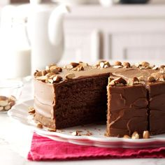 "Spiced Devil's Food Cake Recipe -One of my mom's friends gave her this recipe when I was a child and it has been a family favorite ever since. When your ""chocolate sweet tooth"" acts up, this really hits the spot! Bolos Naked Cake, Brownies, Cake Recipes, Dessert Recipes, Icing Ingredients, Fall Cakes, Devils Food, Butter Pecan, Vintage Recipes"