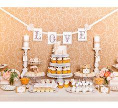 Ideias para as mesas de doces do casamento