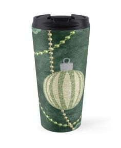 #EmeraldGreen #FauxLaceBorder #TravelMug by #MoonDreamsMusic