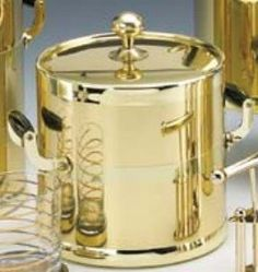 Americano 3qt Ice Bucket in Shiny Brass ** Continue to the product at the image link.