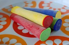 I bought the same ones and  I am planning on using a bunch of her ideas. Freezie Pop Molds by 100 Days of Real Food