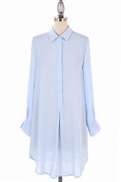 Lightweight Shirt Dress. Can Be Worn As a Top or Dress. 100% Polyester