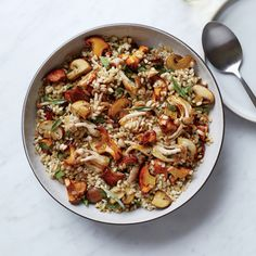 How amazing does this Warm Barley and Caramelized Mushroom Salad by Food & Wine sound? #FallFlavors #MenuPlanning