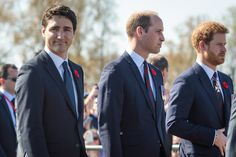 Prince William Photos Photos - (L-R) Canadian Prime Minister Justin Trudeau; Prince William, Duke of Cambridge and Prince Harry arrive at the Canadian National Vimy Memorial on April 9, 2017 in Vimy, France. The Prince of Wales, The Duke of Cambridge and Prince Harry along with Canadian Prime Minister Justin Trudeau and French President Francois Hollande attend the centenary commemorative service at the Canadian National Vimy Memorial. The Battle Of Vimy Ridge was fought during WW1 as part…