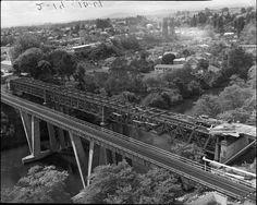 Claudelands Road Bridge Aerial View, Railroad Tracks, Hamilton, Bridge, Old Things, History, Bridge Pattern, Bridges, Historia