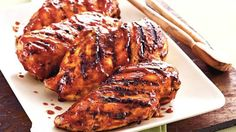 Voted Best 30-Minute Meal of 2008! Grilled chicken breasts smoke with flavor from bottled sauces, cumin and taco seasoning.