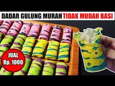 Dadar Gulung Tanpa Telur Tanpa Santan Jual Rp. 1000 - YouTube Pancake Roll, Snack Recipes, Snacks, Side Dishes, Food, Youtube, Snack Mix Recipes, Appetizer Recipes, Appetizers