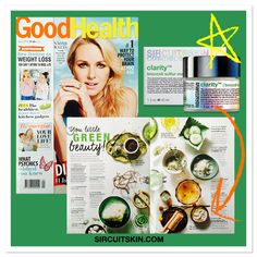 Check out the hot feature in this month's issue of Good Health Magazine called 'You Little Green Beauty' where they reveal the latest green-infused beauty buys that are said to do for your skin what green juices do for your insides: detoxify, repair and replenish! Our Clarity™ broccoli sulfur mask gets a special spotlight for treating blemishes with its potent combination of broccoli, sulfur, tea tree and herbs. SHOP NOW at sircuitskin.com!