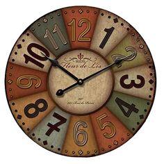 Hang Wall Clock Wooden Sildent Quartz Y