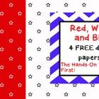 I hope you enjoy these four FREE stars and stripes themed digital papers! They would be perfect for government, Presidents Day, Election time, or ...