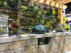 Your pallet garden dreams can come true! So can your outdoor kitchen dreams! Just give us a call!  #palletgarden #palletwall #outdoorliving