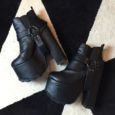 YRU Gemma nightmare platform bootie shoes 7 Great condition worn only a few times brand YRU UNIF Shoes Platforms