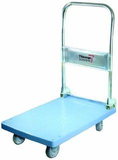 "Thomas ABS Plastic Mini Dolly Folding Cart, 265 lbs Load Capacity, 17-3/4"" Length x 25-1/2"" Width"