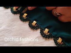 Saree Tassels Designs, Saree Kuchu Designs, Wedding Saree Blouse Designs, Silk Saree Blouse Designs, Blouse Neck Designs, Bridal Mehndi Designs, Crochet Lace Edging, Crochet Flower Tutorial, Diy Embroidery Designs