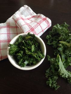 Healthy kale chips// addalittle