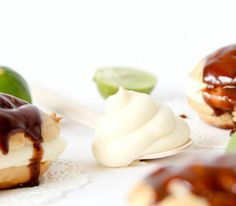 Key Lime Pastry Cream for eclairs, cream puffs, etc. So so good!!