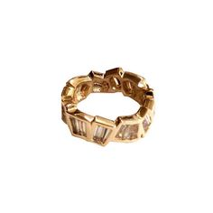 Abstract Baguette Band - The Goldsmiths & Silversmiths Co. Collection