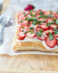 Strawberry Basil Puff Pastry   My San Francisco Kitchen
