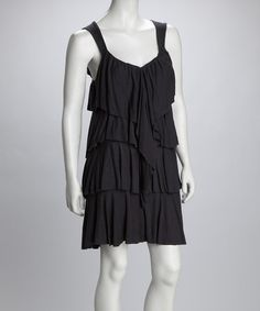 Take a look at this Graphite Ruffle Dress by LA Class on #zulily today! I have a dress like this one and I love it!