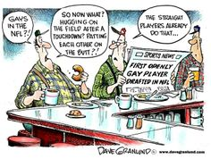 Granlund cartoon: Openly gay player in the NFL. http://www.uticaod.com/article/20140513/NEWS/140519688/1007/OPINION