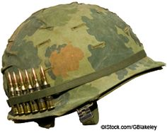 Photo about A US military helmet with an Mitchell pattern camouflage cover from the Vietnam war, and six rounds of ammunition. Image of bullets, soldier, army - 11529754 Soldier Helmet, Army Helmet, Us Military, Us Army, Army Guys, Military Uniforms, Aliens, North Vietnamese Army, Helmet Drawing