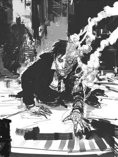 Film Sketchr: Freaky Unseen 'The Dark Knight' Concept Art By Rob Bliss