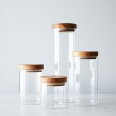 Glass Jars with Wood Lids (Set of 4) on Provisions by Food52