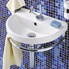 Vitreous China 17 Wall Mount Bathroom Sink With Overflow Bathroom Sink Wall Mounted Bathroom Sinks Sink