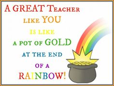 A Great Teacher Like You is like a Pot of GOLD at the End of a Rainbow! Back to School Sharpie Teacher Gift and FREE Printable!