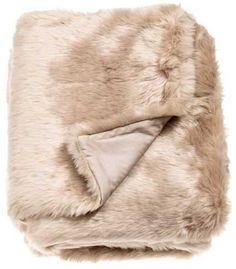 H&M - Faux Fur Throw - Beige