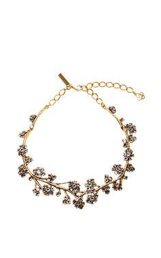 Crystal Branch Necklace by Oscar de la Renta Now Available on Moda Operandi