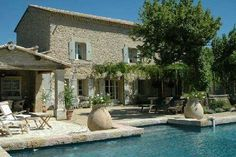 Top 38 of the most beautiful swimming pools of country houses - Provence, what a charm! French Country House, French Farmhouse, Country Houses, Mediterranean Garden Design, House On The Rock, Stone Houses, My Dream Home, Exterior Design, Future House