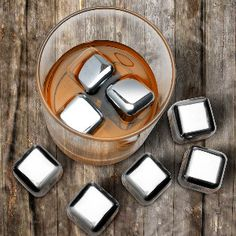 Stainless Steel Whisky Cubes