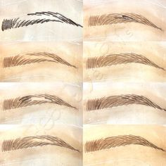 Microblading Eyebrows : Illustration Description Quick little tutorial for your Thursday afternoon 😘 When filling in the brow with strokes, stay in the Mircoblading Eyebrows, How To Do Eyebrows, Threading Eyebrows, Shape Eyebrows, Best Eyebrow Makeup, Permanent Makeup Eyebrows, Best Eyebrow Products, Light Eye Makeup, Eyebrow Design